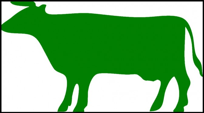 Green Cow Outline