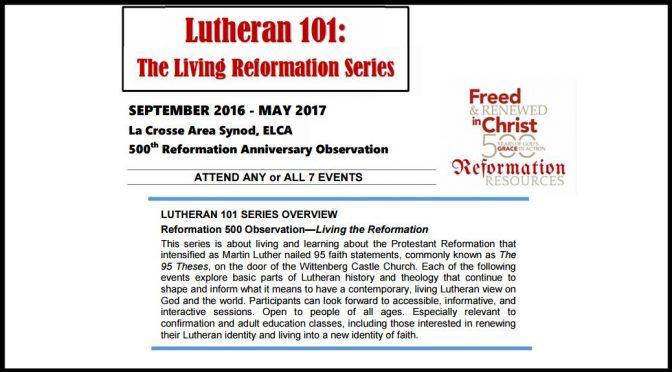 Lutheran 101 2016